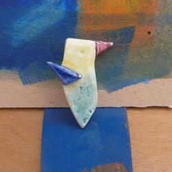 Ceramic Brooch / Colibri (Hummingbird)
